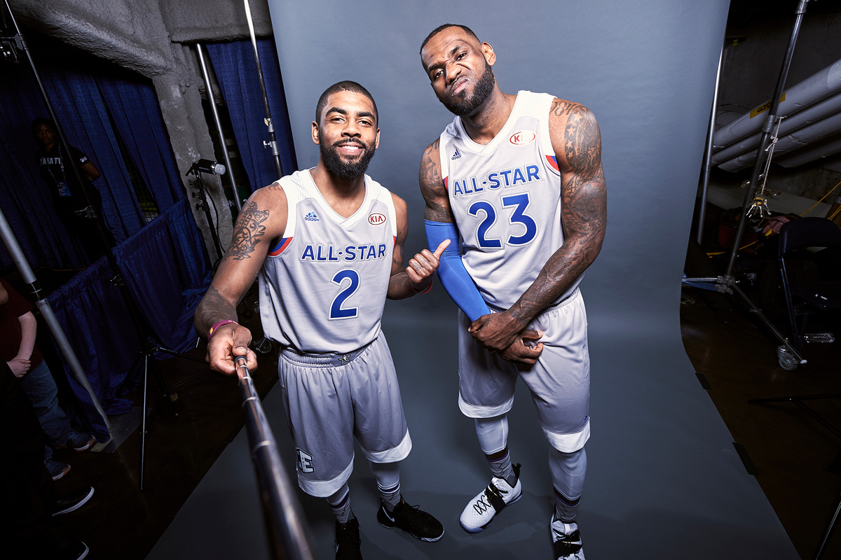 kyrie & lebron - all stars